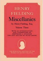 Miscellanies by Henry Fielding, Esq